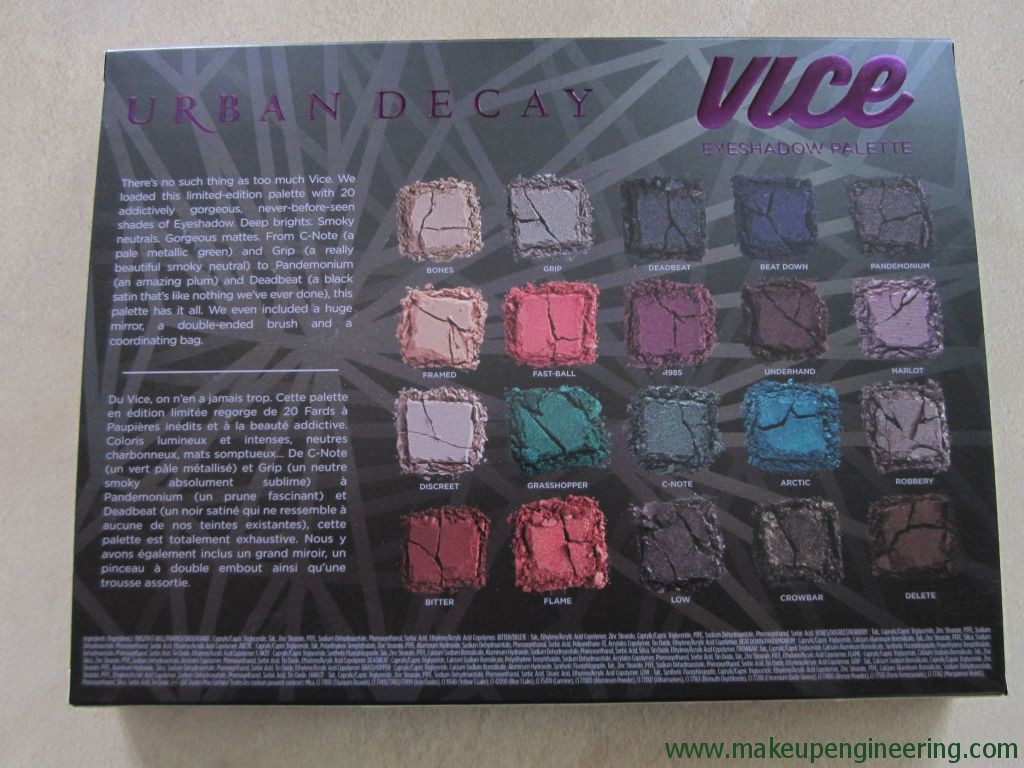 Urban Decay Vice4 Palette 003