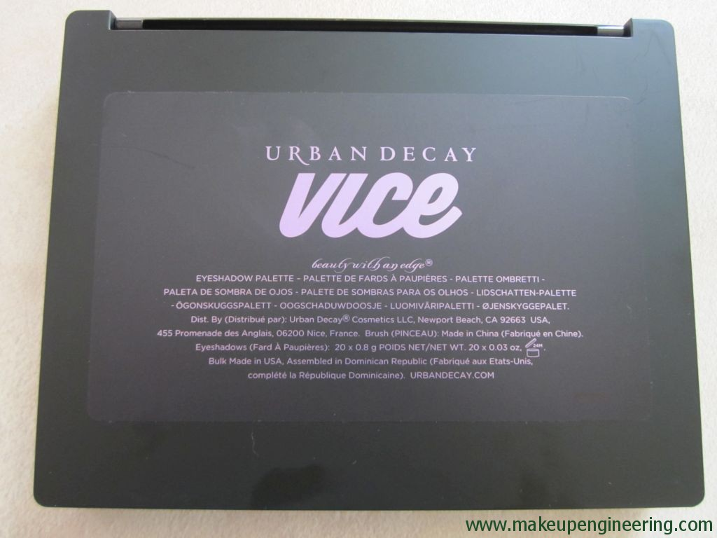 Urban Decay Vice4 Palette 012